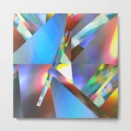 Fragmented Light Metal Print
