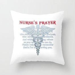 NURSE'S PRAYER Throw Pillow
