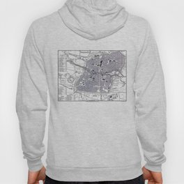 Vintage Map of Nuremberg Germany (1858) Hoody
