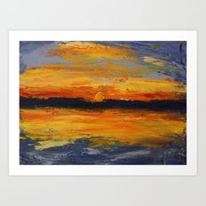 Warneet Sunset Art Print