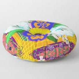 Floral Spread Floor Pillow