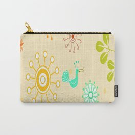 kids bird sun flower floral leaf animals color rainbow Carry-All Pouch