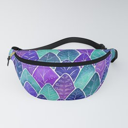 Forest Under a Starry Sky - Magenta Fanny Pack