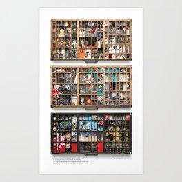 Dharma Triptych (vertical composite) Art Print
