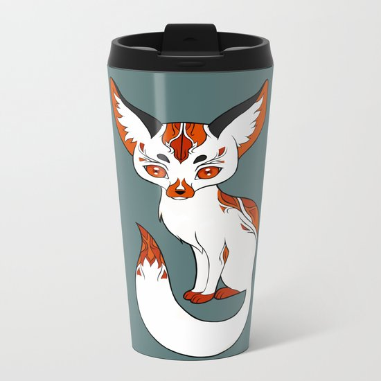 Mysterious Fox Metal Travel Mug