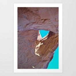 Rock & Sky Art Print