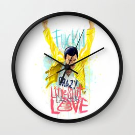 Crazy Little S*t Wall Clock
