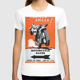 Vintage Motorcycle Poster T-shirt