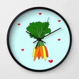 Colorful Carrots Wall Clock