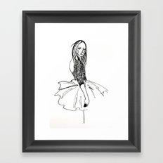 Silent ballerina Framed Art Print