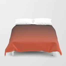 Black and orange. Gradient.  Ombre. Duvet Cover