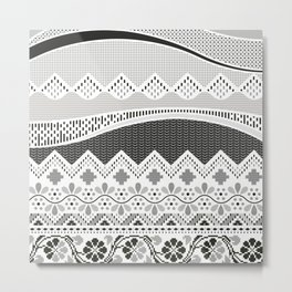 Layers of Culture - Decorative pattern based on the layers of soil Metal Print