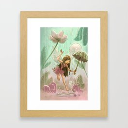 Goblins Drool, Fairies Rule! - Dewdrop Shower Framed Art Print