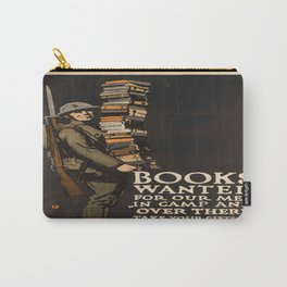 Vintage poster - Books Wanted Carry-All Pouch