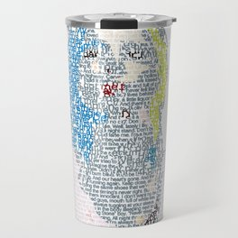 Badlands Lyrics Travel Mug