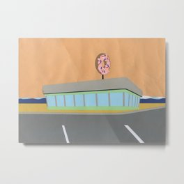 Donut Diner Metal Print