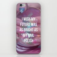 nail polish iPhone & iPod Skins featuring Nail Polish by ewwidc