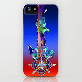 Fusion Keyblade Guitar #141 - Diamond Dust & Axel Chakrams iPhone Case