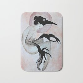 The Crow Woman Bath Mat
