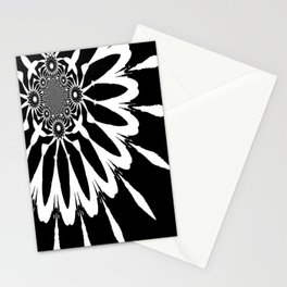 The Modern Flower Black & White Stationery Cards