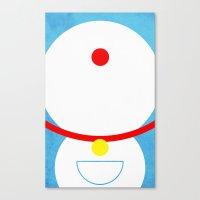 doraemon Canvas Prints featuring Doraemon by theLinC