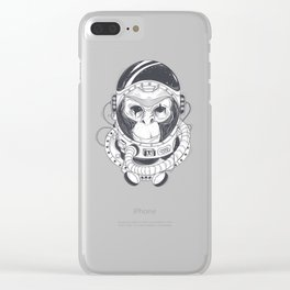 Astronaut Monkey Clear iPhone Case