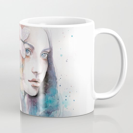 Lady with a butterfly Mug