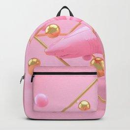 Shark in pink - Animal Display 3D series Backpack
