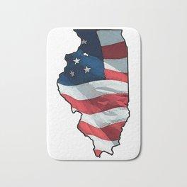 Patriotic Illinois Bath Mat