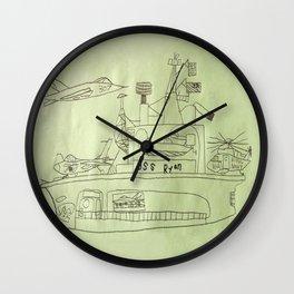 The USS Ryan Carrier Wall Clock