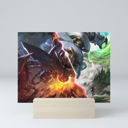 Lancer Paragon Blitzcrank Lancer Rogue Blitzcrank League Of Legends Mini Art Print