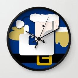 Blue Santa Wall Clock