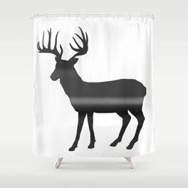 Deer print, Black & White Shower Curtain