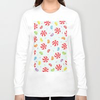 candy Long Sleeve T-shirts featuring Candy by Alice Brown