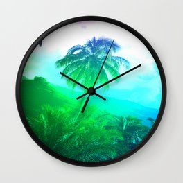 Tahiti At Dusk Photo Wall Clock