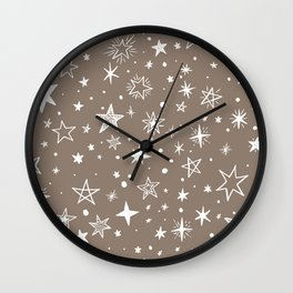 Multiple shapes and sizes stars XV Wall Clock