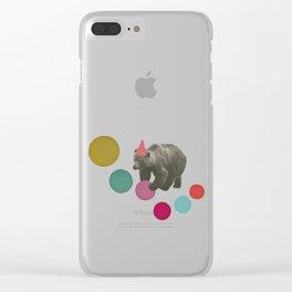 Birthday Bear Clear iPhone Case