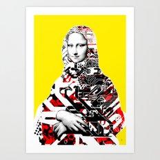 Mona Lisa Platina 2 Art Print