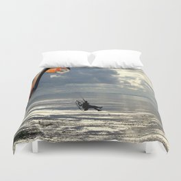 Powered Paraglider Duvet Cover