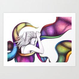 #19 – pensieri vorticosi Art Print