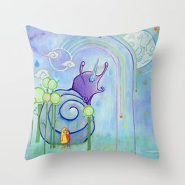 My Friends, Greetings From The Future. It Is Raining Here So Prepare An Umbrella Throw Pillow