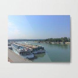 Walk along the Danube River in Belgrade, Serbia Metal Print