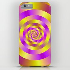Yellow and Pink Spiral Rings iPhone 6 Plus Slim Case