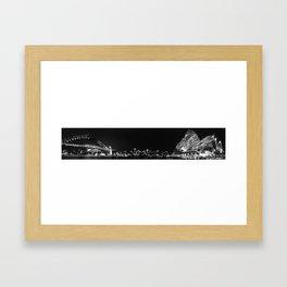 Sydney Illuminated Nightscape Framed Art Print