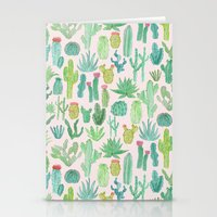 cactus Stationery Cards featuring Cactus by Abby Galloway