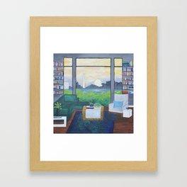 Library sunrise along the Potomac Framed Art Print