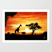 africa Art Prints featuring Africa by Richard Eijkenbroek
