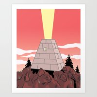 pyramid Art Prints featuring Pyramid by Mike Force
