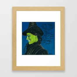 Elphaba-Wicked Framed Art Print