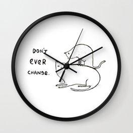 Slightly Threatening Romantic Cat Wall Clock